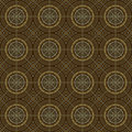 Brown colors round grid pattern korean traditional design series Stock Image