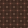 Brown colors round grid pattern korean traditional design series Royalty Free Stock Photography