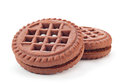 Brown cookie Stock Image