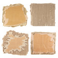 Brown corrugated cardboard Stock Photo