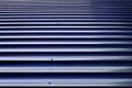 Brown orrugated steel sheet Royalty Free Stock Photo