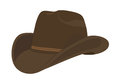 Brown cowboy hat vector illustration Stock Photos