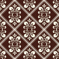 Brown damask pattern Stock Photography