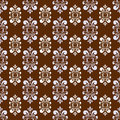 Brown damask pattern Royalty Free Stock Photography