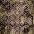 Brown Damask Print Stock Photo