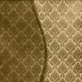 Brown Damask Seamless Stock Photos