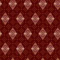 Brown decorative seamless pattern with rhombuses vector eps Stock Photos