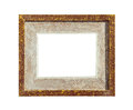 Brown design canvas photo frame isolated Royalty Free Stock Photo