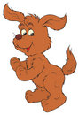 Brown Dog (vector clip-art) Stock Photos