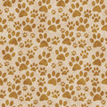 Brown Doggy Paw Print Tile Pattern Repeat Background Royalty Free Stock Photo