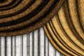 Brown drapes horizontal abstract background with Royalty Free Stock Photography