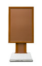Brown empty vertical billboard Royalty Free Stock Photo