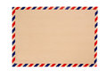 Brown envelope with blue and red striped Stock Photos