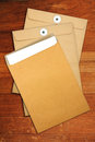 Brown Envelope document Royalty Free Stock Photography