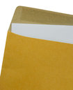 Brown Envelope document on a white background. Royalty Free Stock Photo