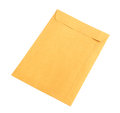 Brown envelope on white background with clipping path Stock Photo