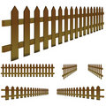 Brown fence Stock Images