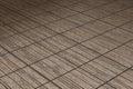 Brown floor in wooden lists illustration Stock Image