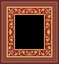 Brown floral frame Stock Image