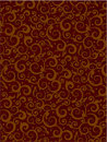 Brown floral scrolls pattern background Royalty Free Stock Photo