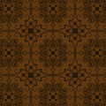 Brown Flowers Vintage Style Wallpaper Stock Image