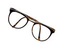 Brown glasses isolated on white with clipping paths Royalty Free Stock Photo