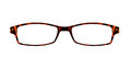 Brown glasses isolated on white with clipping paths for the fram Royalty Free Stock Photo