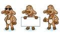 Brown Goat Mascot happy Royalty Free Stock Photo