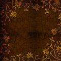 Brown Gold Floral Textured Background Stock Photos