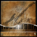 Brown Grunge Music Background Royalty Free Stock Photos