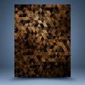 Brown Grunge Geometric Abstrac...