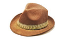 Brown hat isolated on white background Stock Image