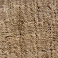 Brown hessian texture square photograph Royalty Free Stock Images