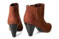 Brown High Heel Boots Stock Photo
