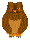 Brown Horned Owl Illustration Royalty Free Stock Images