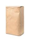 Brown kraft paper food bag Royalty Free Stock Photo