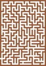 Brown labyrinth Royalty Free Stock Images