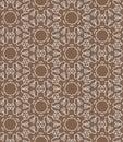Brown lace seamless pattern.