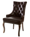 Brown leather arm-chair Royalty Free Stock Photo