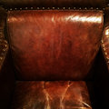 Brown leather armchair Stock Image