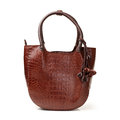 Brown leather bag women s fashion Royalty Free Stock Photo
