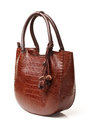 Brown leather bag women s fashion Stock Image