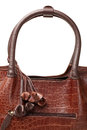 Brown leather bag women s fashion Royalty Free Stock Image