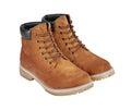 Hnedý kože topánky izolované na bielom pozadí