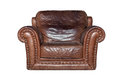 Brown leather chair Royalty Free Stock Photo
