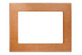 Brown leather frame Royalty Free Stock Photos
