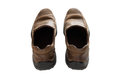 Brown leather men's shoes Royalty Free Stock Photo