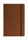 Brown leather notebook isolated Royalty Free Stock Photo