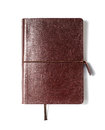 Brown leather notebook Royalty Free Stock Photo