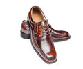 Brown leather shoes Stock Photos